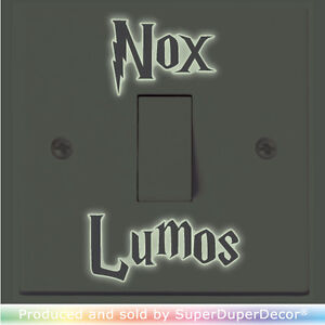 Details about Nox Lumos ( Off On ) Light Switch Sticker funny kids wall  room vinyl decal