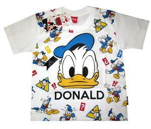 43367fdd MICKEY MOUSE & FRIENDS 'DONALD DUCK' cotton t-shirt S-XL Age 4-9 yrs ...