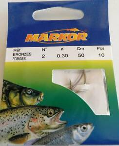 PORT-GRATIS-10-HAMECON-MONTE-MARKOR-N-2-30-peche-mer-riviere-carnassier