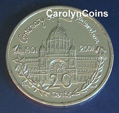20 cent piece UNC 2001 South Australia SA from mint roll