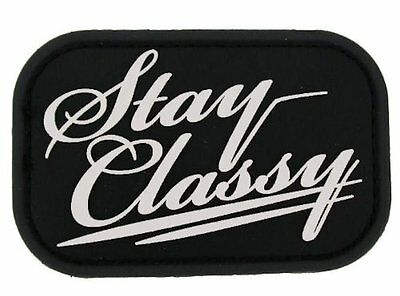 "MilSpec Monkey ""Stay Classy"" PVC Hook/Loop Patch - SWAT Color, 3"" x 2"""