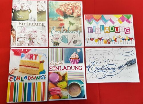 100x Karten Einladung 0,17€//St Party Fest Feier Einladungskarten 41-7920 EF
