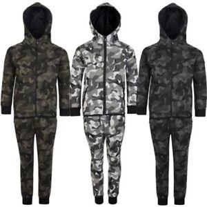 bdb88a61d34d6 ... Enfants-Geometrique-Imprime-Camouflage-Survetement-Capuche-Polaire-Haut