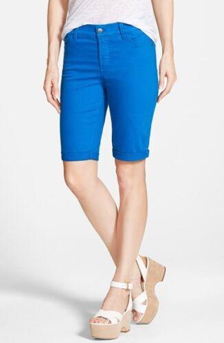 NYDJ Not Your Daughters Jeans Briella cuff bermuda shorts Olympia blue 4  8 12