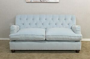 Willow-amp-Hall-Light-Blue-Fabric-Static-Large-2-Seater-Sofa-Bed