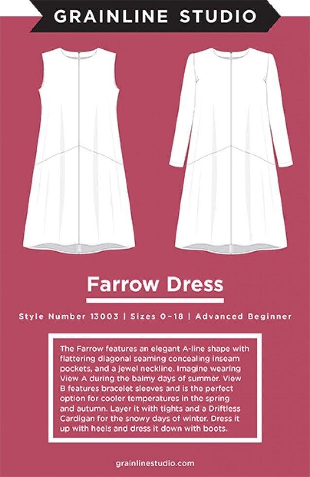 GSP11005 Grainline Studio Ladies Easy Sewing Pattern 11005 Linden Sweatshirt