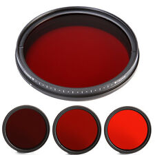 58mm Adjustable IR Pass Infrared Lens Filter 530nm to 750nm 590/630/680/720nm 58