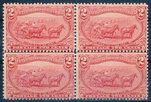 "US Sc# 286 *MINT OG LH* (( ""CENTER-LINE"" BLOCK OF 4 )) BEAUTY & SOUND FROM 1898"