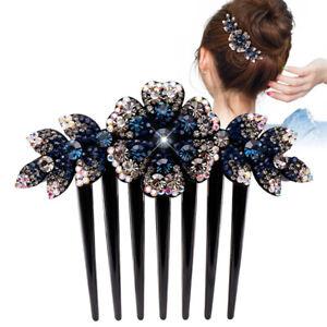 Women-039-s-Flower-Hair-Comb-Pins-Slide-Clips-Hair-Barrettes-Bridal-Hair-Accessories