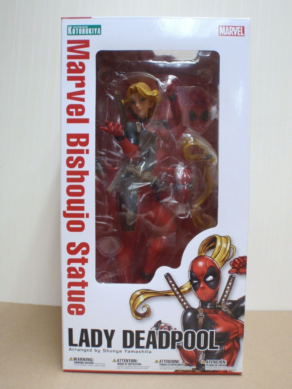 Japan kotobukiya marvel - universum marvel bishoujo lady fr deadpool 1   7 pvc figure