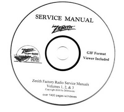 Zenith Radio Service Manuals - Volumes 1, 2 & 3 on CD
