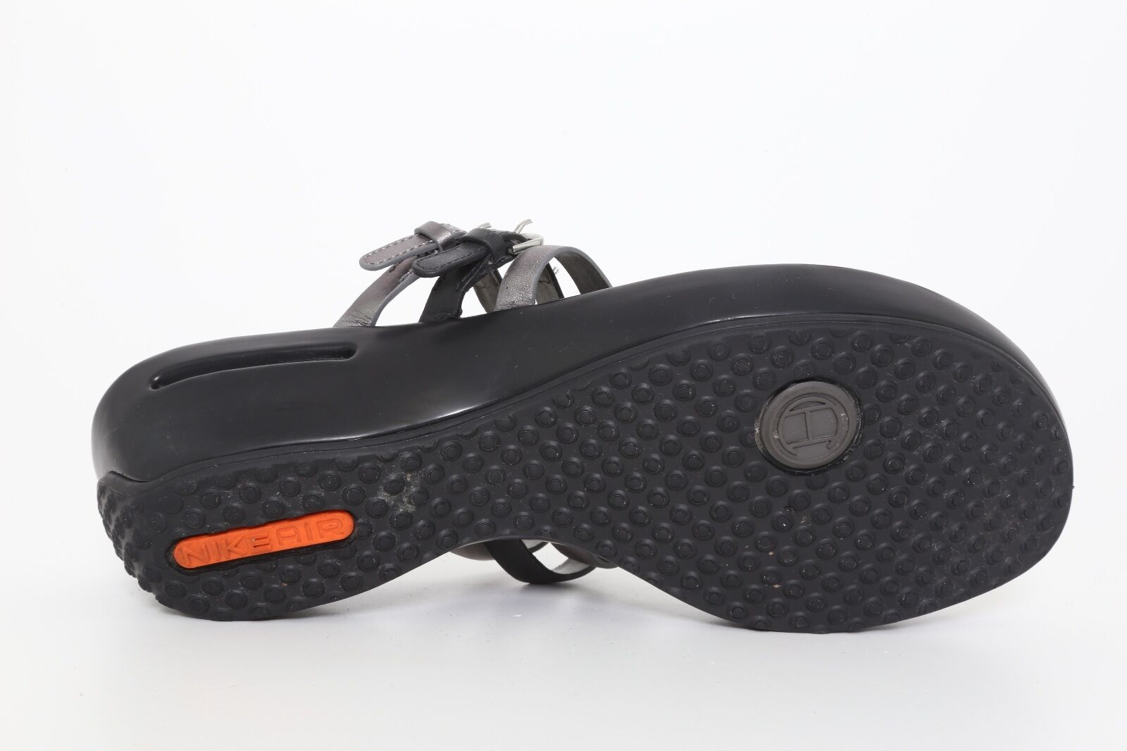 Cole Haan Donna  Leather Air Melisa Thong Sandal Sandal Sandal Gunsmoke Metallic 4058 Sz 9.5B e70f1a