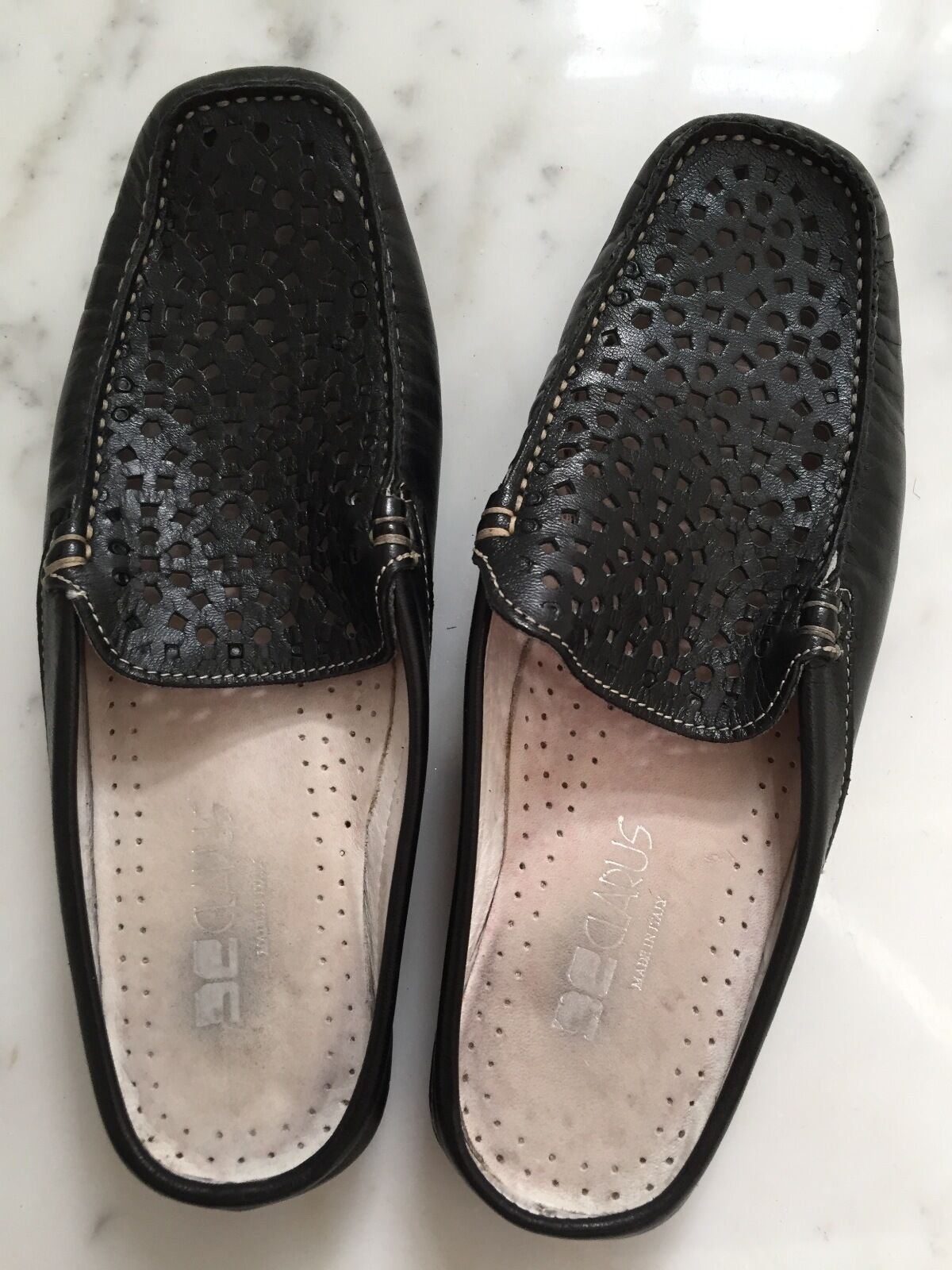 Designer CLARUS Made in  Genuine Leather Driving chaussures 38 1 2