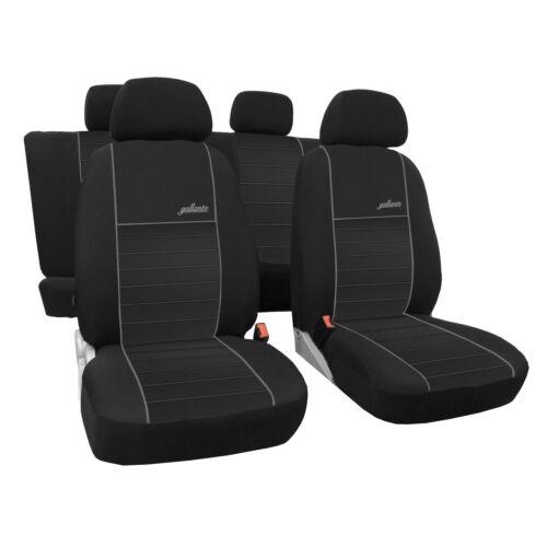 Autositzbezüge für Mercedes B Klasse W245 04-11 5-Sitze Grau Transporter Bezug