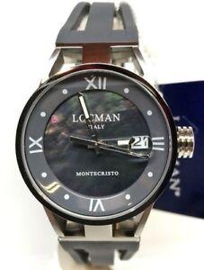 Locman Montecristo Lady Women's Watch Titanium Steel And Rubber 521 Grey