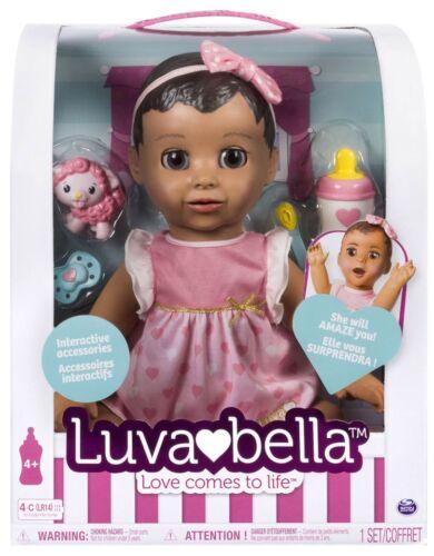 Luvabella Brunette Hair Responsive Baby Doll