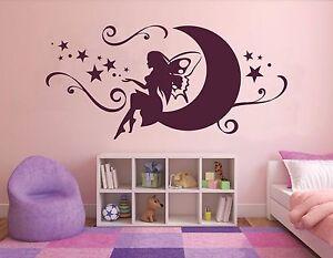 Wandtattoo Kinderzimmer Baby Madchen Prinzessin Fee Auf Dem Mond