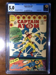Captain-Atom-83-1966-1st-Blue-Beetle-Ted-Kord-CGC-5-0-Key