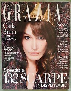 AL61 GRAZIA FASHION MAGAZINE 42 2017 CARLA BRUNI EMMA STONE NINA ZILLI FIAMINGO