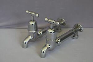 Old CHROME parete montato rubinetti da cucina retrò ideale Belfast ...