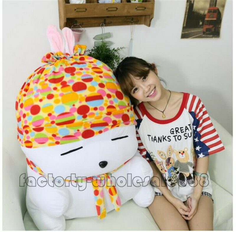 Nuovo 39''H Giant Cute Rabbits Mashimaro Toy Doll Big Stuffed Plush Christmas Gift