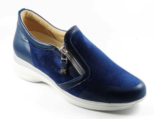 Moda Walk Colore Blu Melluso Sneaker Techno 38 N Nabuk Pelle R20306 Comoda 8wZqUOxB