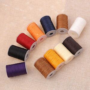 ACK 1Leather sewing waxed thread wax bead cord 1mm Shamballa Macrame