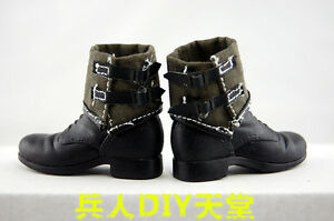 1-6-Scale-WWII-Dragon-TC-US-Army-Combat-Boots-for-12-034-Action-figure-Toys