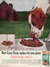 1964 Print Ad of General Foods Gaines Gravy Train Dog Food