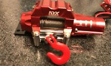 KYX Wired Winch & Mount For Axial SCX10 Wraith 1/10 Off Road 4X4 Crawler CC01
