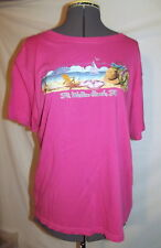 "Womens hot pink t-shirt Alvin's island FT. WALTON BEACH FLORIDA medium 44"" chest"