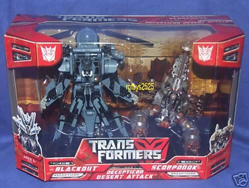 Transformers Película Voyager Class negroout de lujo clase Scorponok nuevo paquete del desierto