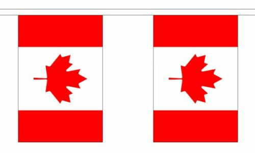 3m 6m 9m Metre Length 10 20 30 Flags Canada Flag Bunting Canadian