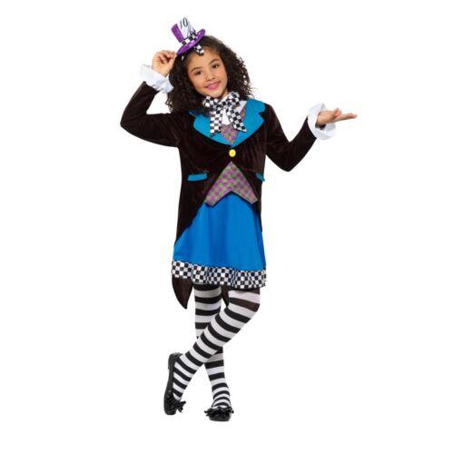 Little Miss Hatter Alice in Wonderland Book Day Girls Childs Fancy Dress Costume