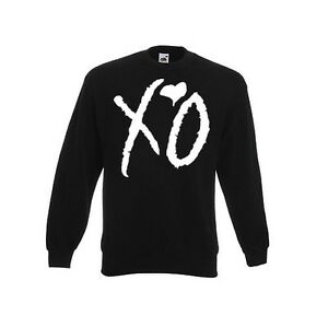 Cooler-Herren-Sweater-Pullover-034-XO-THE-WEEKND-034-Pullover-swag-obey-tisa-drake