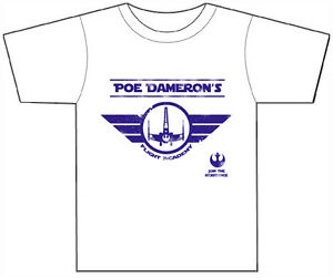 Poe Dameron Flight Academy T Shirt  Star Wars Force Awakens  Episode 7  Funny - <span itemprop=availableAtOrFrom>Doncaster, United Kingdom</span> - Poe Dameron Flight Academy T Shirt  Star Wars Force Awakens  Episode 7  Funny - Doncaster, United Kingdom
