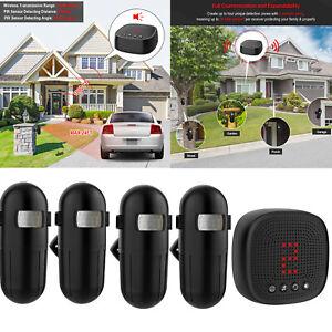 2021 1000ft Long Range Wireless Driveway Alarm Alert Motion Sensor Detector Xmas