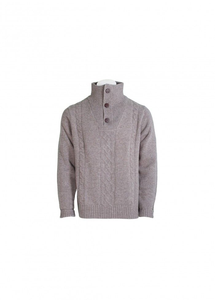 Toggi Brandon trama da uomo con lavorazione a trama Brandon grossa maglione colore VISONE vendita ead796