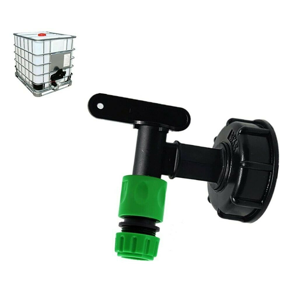 IBC S60x6 Water Tank Outlet Connection Adapter + Tap Fittings End Connector Set