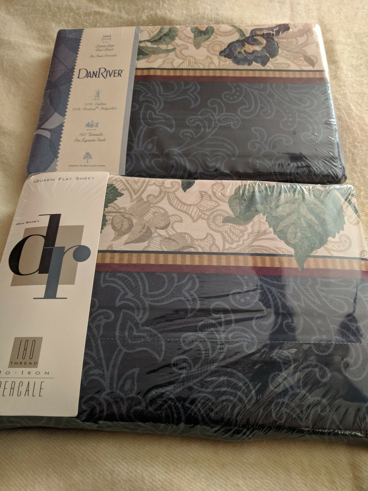 DAN RIVER QUEEN FLAT SHEET SHEFFIELD NEW