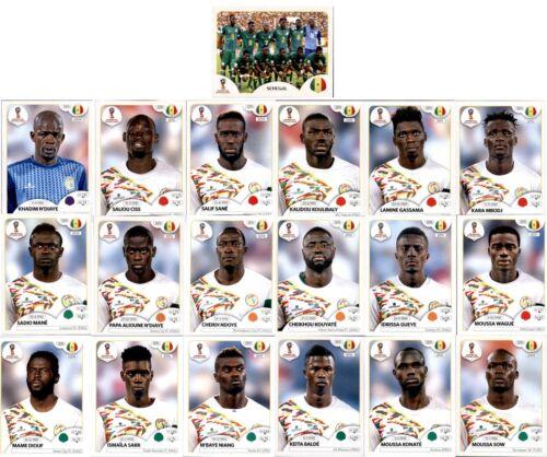 Sticker 613-631 Panini WM 2018 Russia Sticker Mannschaftspaket Senegal