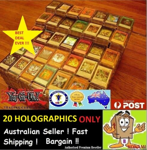 20 HOLOS HOLOGRAPHICS ONLY Bulk Cards Pack  GENUINE KONAMI YuGiOh