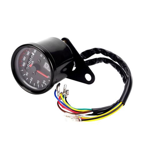 12V Black Motorcycle Speedometer Tachometer Gauge with LED Backligh Hot Y6I4