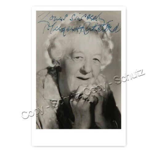 Miss Jane Marple K19 Margaret Rutherford Autogrammfotokarte laminiert