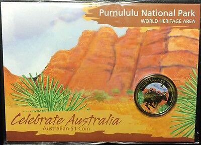 Celebrate Australia Purnululu National Park $1 2010 Colored Coin on Card