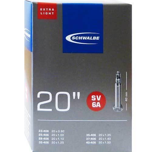 Schwalbe SV6 A extra leicht Fahrrad Schlauch 20″ 20x1 1//8-1.50″ 28//40-406 SV40mm