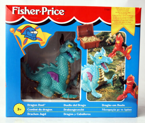 RARE VINTAGE 1995 FISHER PRICE DRAGON DUEL CASTLE KNIGHTS MATTEL NEW SEALED !