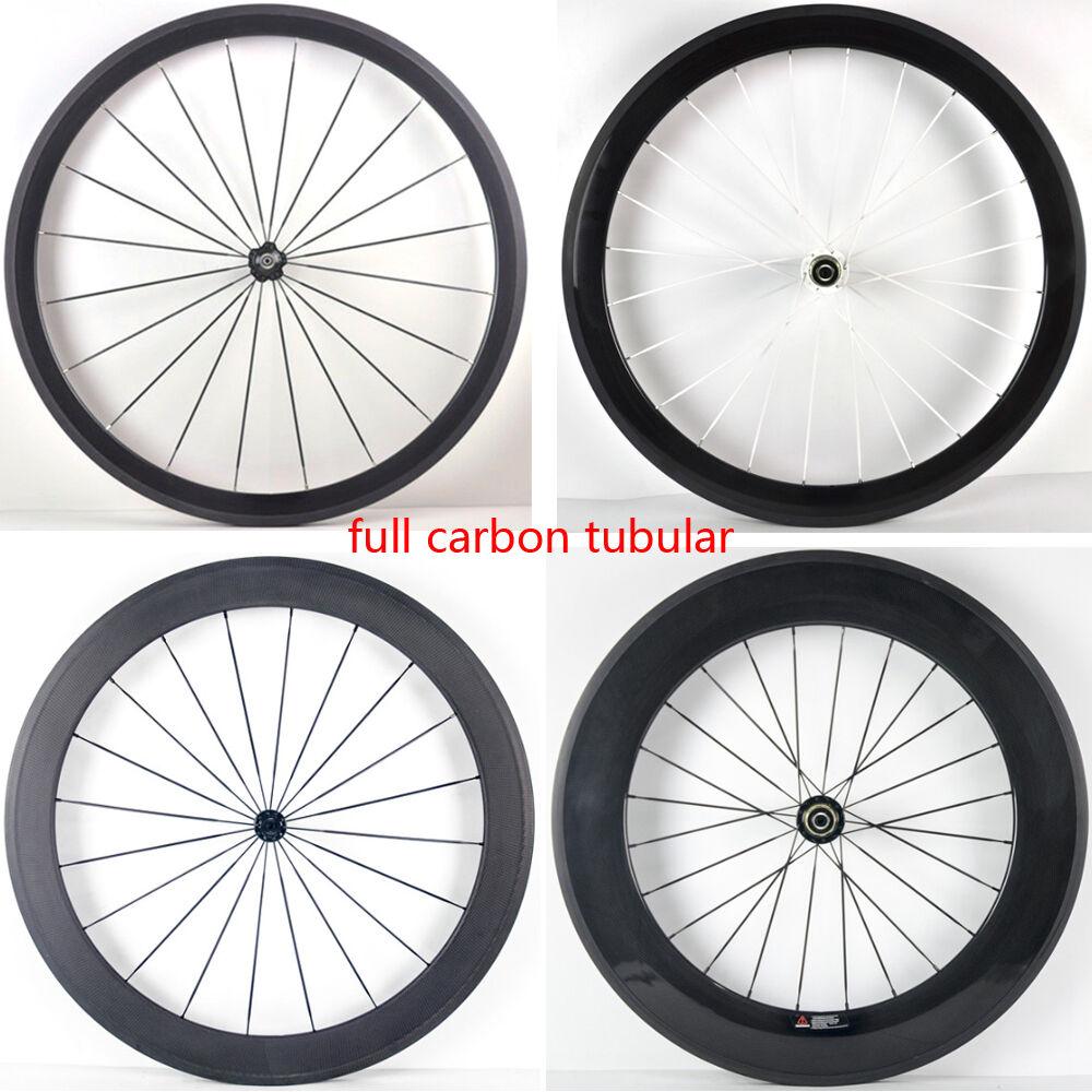 700C 38 50 60 88mm tubular rim road bike 3K UD 12K full carbon bicycle wheelsets