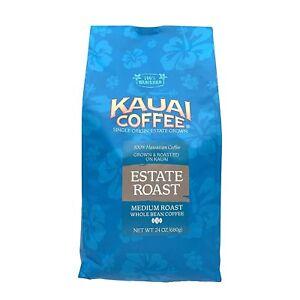 9941a1e570 Details about 100% Kauai Coffee Estate Medium Roast Whole Bean HUGE 24oz Bag  FREE SHIPPING