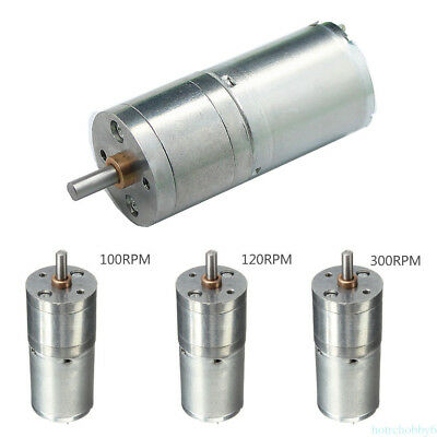3.5RPM 2 Terminals 6mm Shaft Dia Electric Gearbox Geared Motor 12VDC